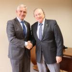 """Presidente do """"Democracia Cristã"""" José Maria Eyamel visita Milton Vieira"""